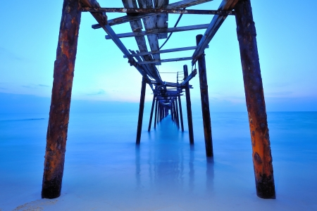 long exposure of fisherman bridge, pang-nga Thailand photo