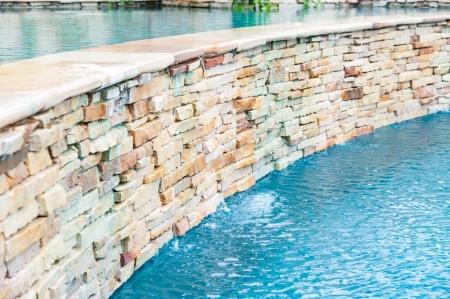 detail of beautiful swimming pool edge