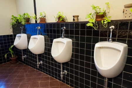 row of public urinal photo