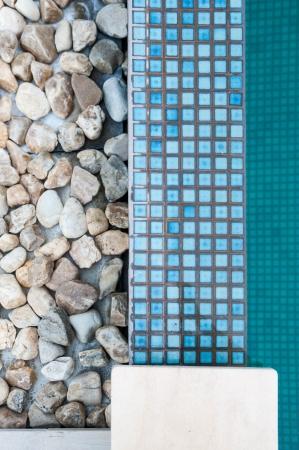 detail of swimming pool edge