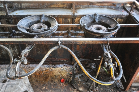 old gas stove: old gas stove