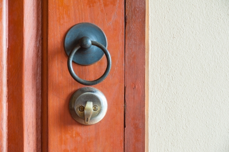 antique door handle and lockable, contemporary Thai style photo