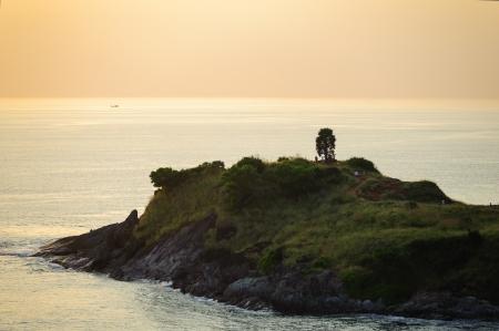 Promthep cape in twilight, phuket Thailand photo