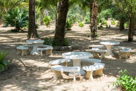 picknic: concrete seat public park