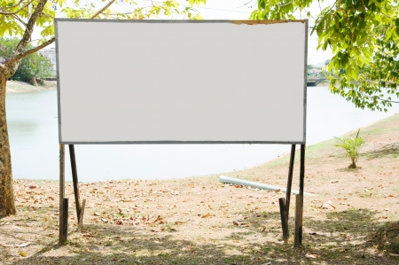 blank signboard in park  Stock Photo - 18630842