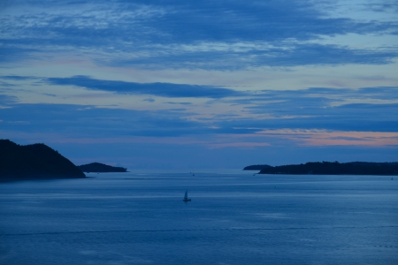 seascape in twilight, phuket Thailand  photo