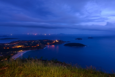 phuket top view point in twilight, phuket Thailand  photo