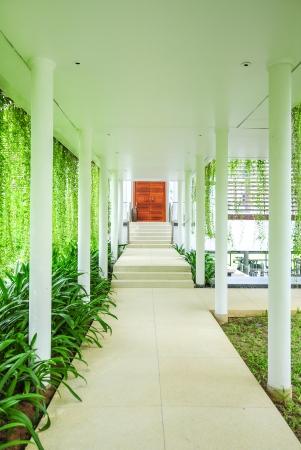 contemporary style open corridor