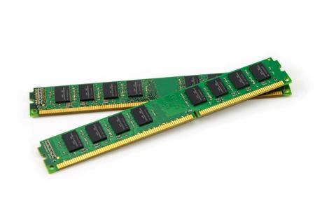 ddr3: RAM Random Access Memory  for servers on white background