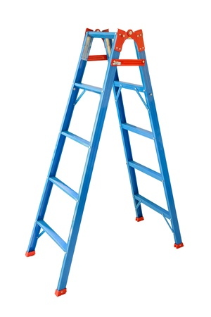 step ladder: Ladder Isolated on white background  Stock Photo
