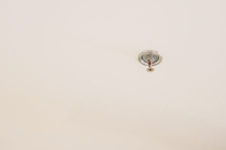 fire extinguishing sprinkler on ceiling  photo