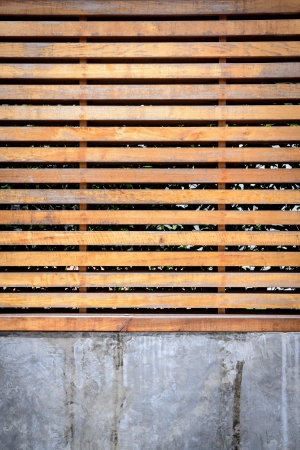 wooden louver and cement wall Stock Photo - 20912694