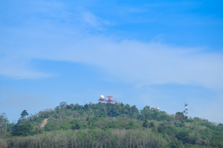 Air Traffic Control tower on top of hill  photo