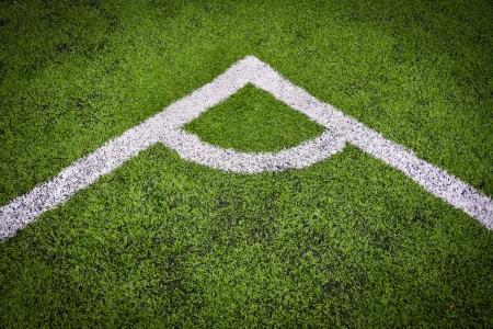 corner in the soccer field  photo