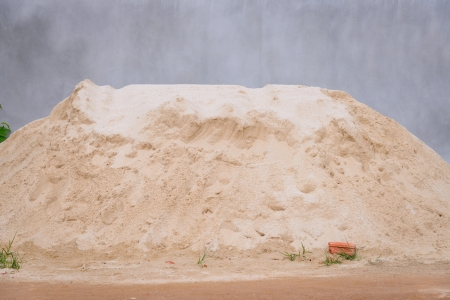 pile of sand for construction  photo