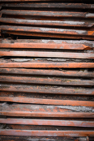 old stack of roofing tiles  photo