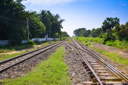 railway track in Myanmar  Burma  photo