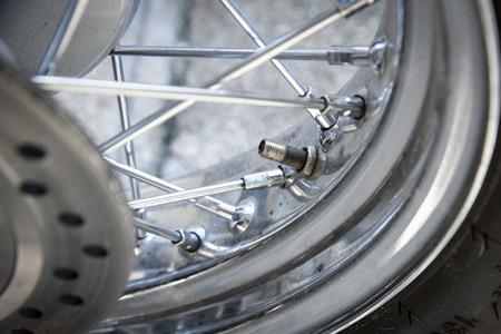 secure brake: motorcycle tire valve