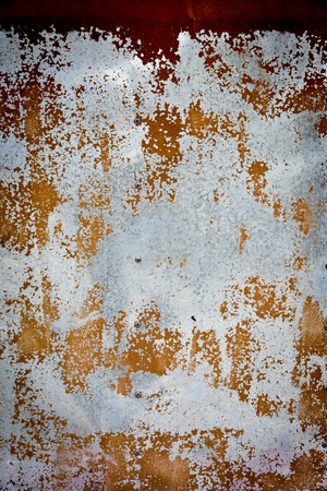 brushed steel: Rusty metal sheet wall texture background.