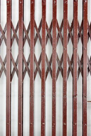 brown folding steel door details