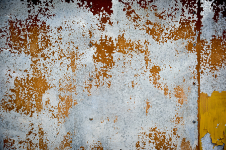Rusty metal sheet wall texture background.