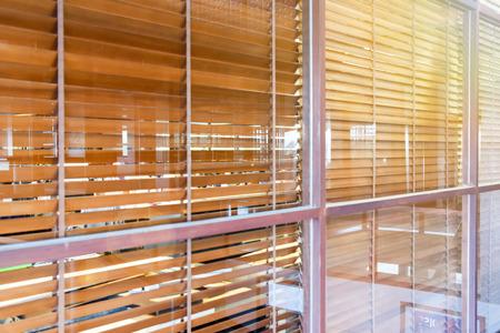 fixed glass window plan stock photo wooden blind behind the fixed glass window wooden blind behind the fixed glass window photo picture and