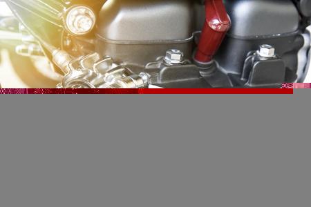 close up of motorcycle engine design details