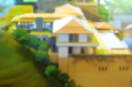 a blurred de-focus of architectural model, dream house concept