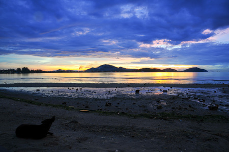 Beautiful sunrise over sea, phuket Thailand