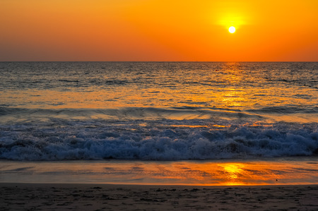 Beautiful Sunset at andaman sea, Phuket Thailand Stock Photo