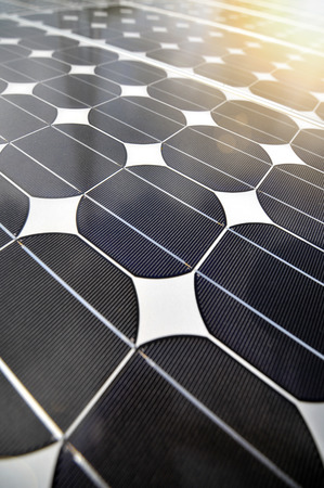 detail of a solar panel for renewable electrical power