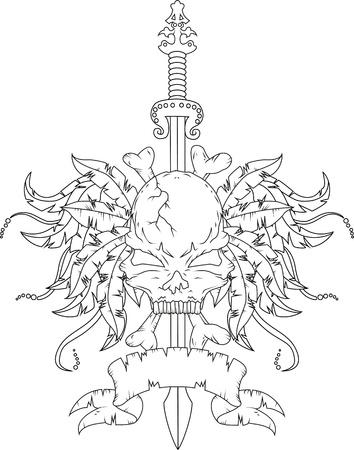 skull tattoo: schedel tattoo