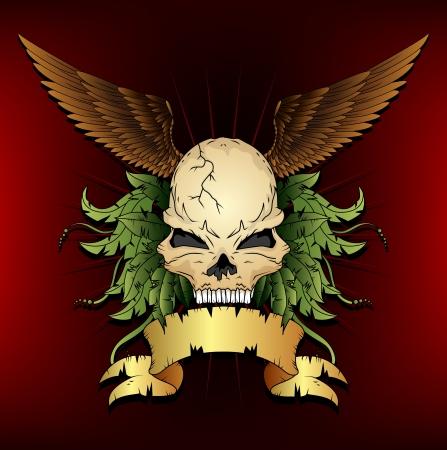 skull tattoo: schedeltatoegering