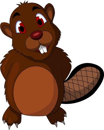 beaver tail: cute beaver cartoon