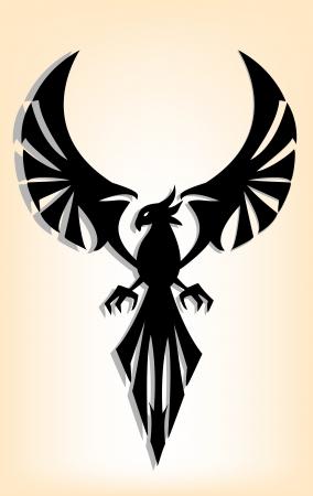 eagle tattoo design Vector