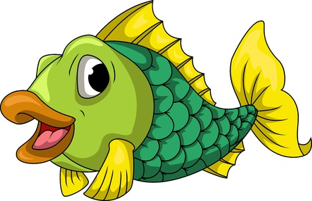 poisson aquarium: bande dessin�e de poissons mignon