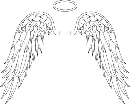 glide: wings angel tattoo design