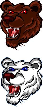 angry bear: cabeza de oso enojado por que el dise�o