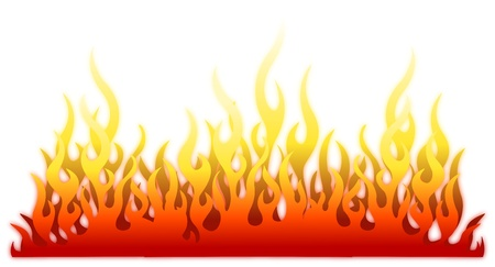 Burn flame fire vector background Illustration