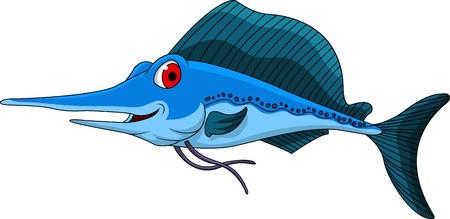 swordfish: cute blue marlin cartoon