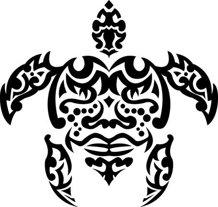 ancient turtles: turtle tribal tattoo
