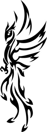a tattoo: phoenix tattoo tribal