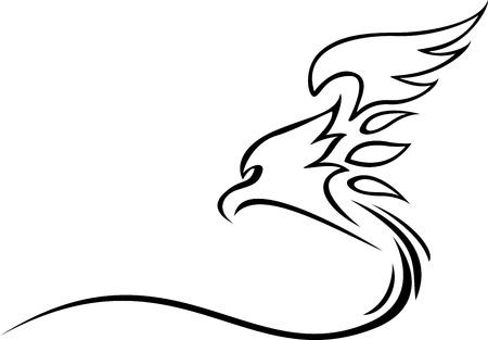 zeichnung: eagle tattoo tribal Illustration