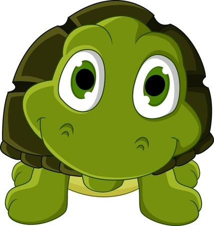 schildkröte: niedliche grüne Schildkröte Karikatur Illustration
