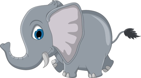 trunks: cute elephant cartoon