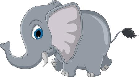 zoologico caricatura: dibujos animados elefante lindo