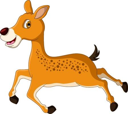 roe: cute deer cartoon posing