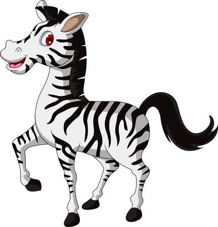 zebras: cute zebra cartoon walking