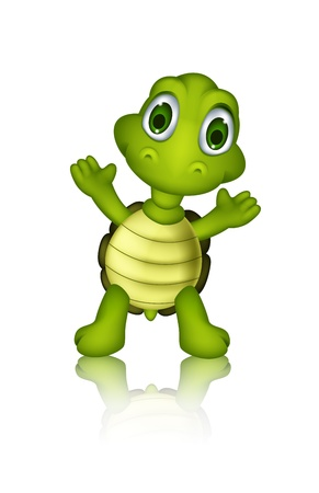 cute green turtle cartoon Stock Vector - 20895750