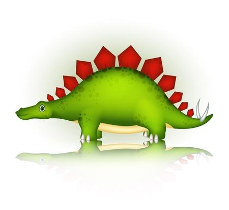 cute dinosaur cartoon Stock Vector - 20895757